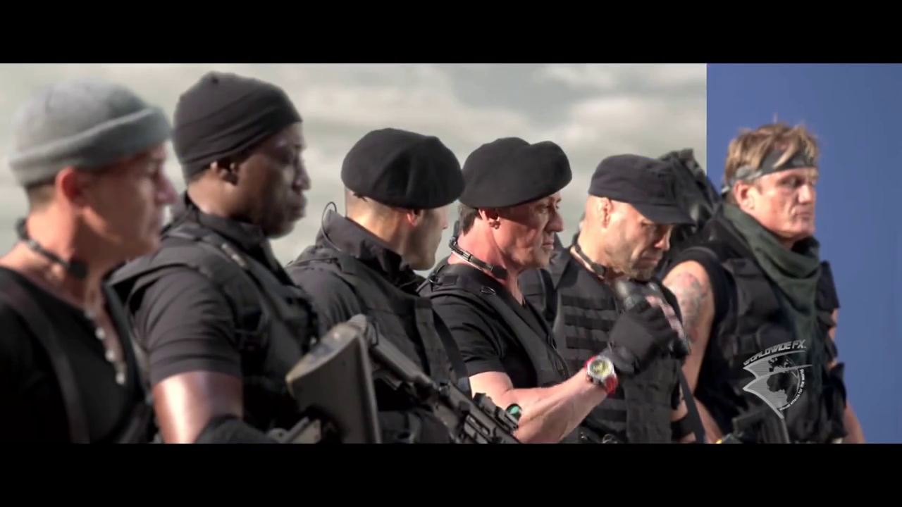The Expendables 3 VFX Breakdown